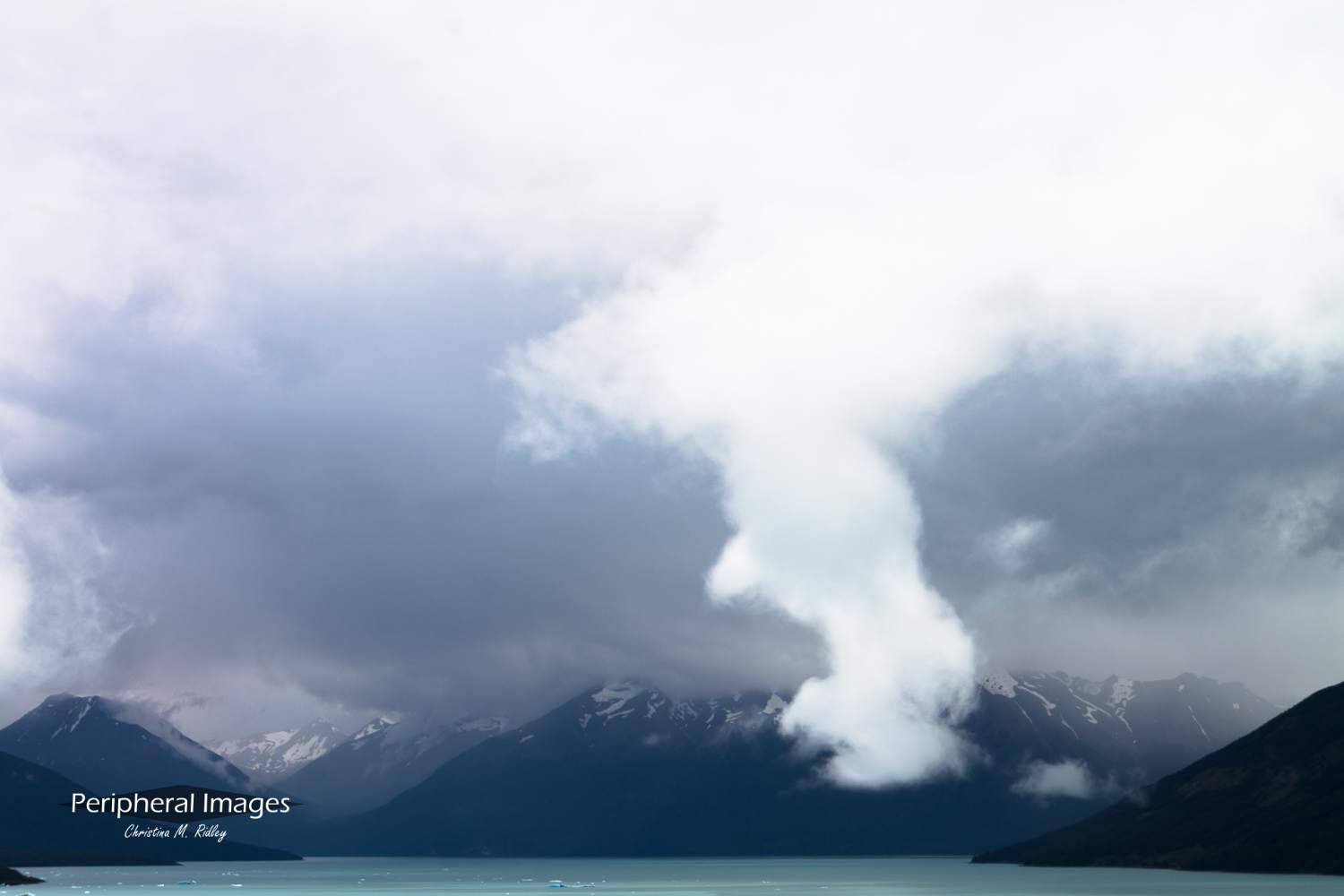 Lost Cloud Over Lake Argentina- Patagonia Argentina