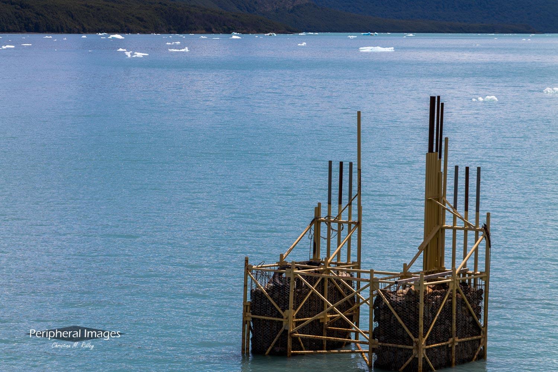 Lake Argentina Under Construction- Patagonia Argentina