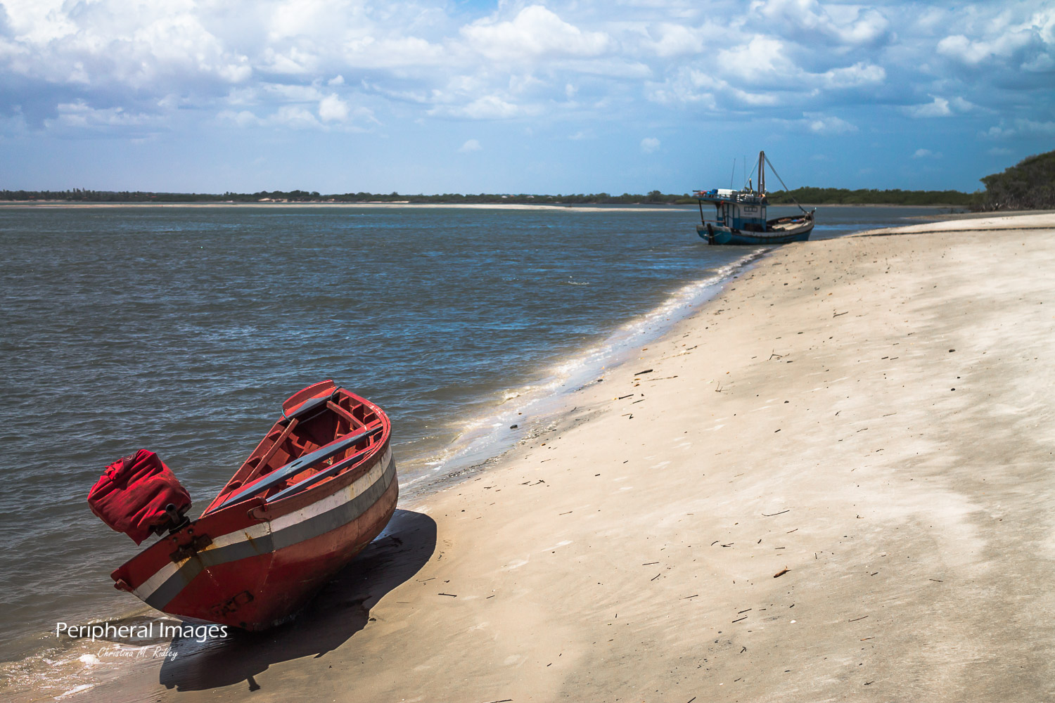 Beached Fishing Boats- Lencois Maranhenses Brazil