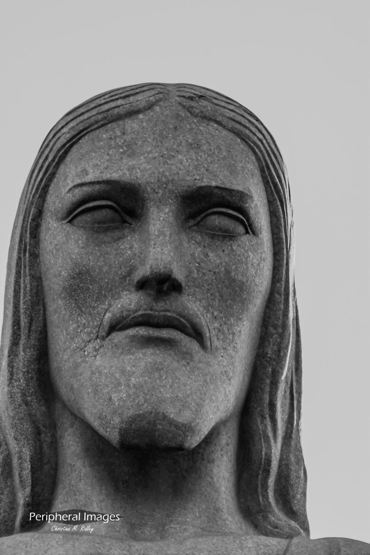 Christ the Redeemer's Face- Rio de Janeiro Brazil