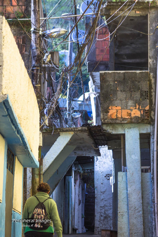 Corridors of Rocinha Favela- Rio de Janeiro Brazil