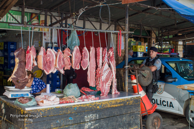 The Butcher and the Police- Rio de Janeiro Brazil