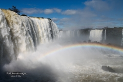 Rainbow in the mist- Iguazu Falls Brazil