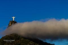 Cloudy Christ the Redeemer- Rio de Janeiro Brazil
