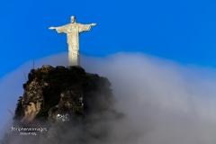 Christ the Redeemer in the Clouds- Rio de Janeiro Brazil