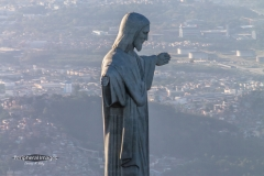Christ the Redeemer from the Air- Rio de Janiero Brazil