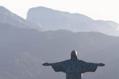 Christ the Redeemer and Mountains- Rio de Janeiro Brazil